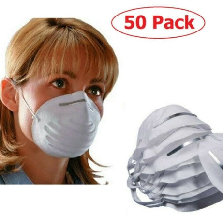 Dust Mask - Respiratory Protection - Pk 50    - P005WH50