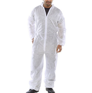 Polyprop Keep Clean Disposable Coverall White - 088217 Large