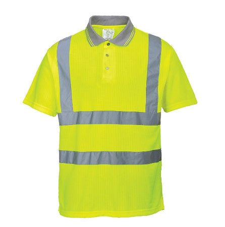 Hi Vis Ribbed Polo Shirt - S177