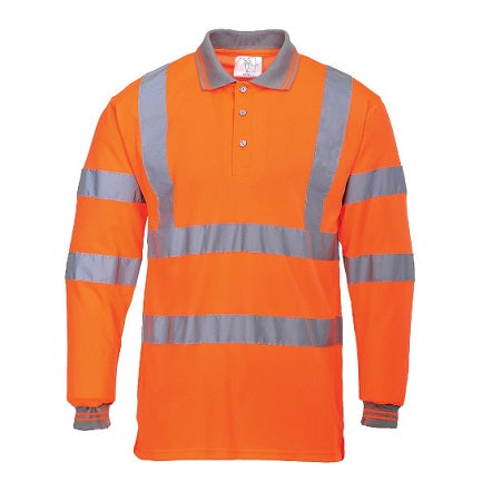 Hi Vis Long Sleeve Polo Shirt - S277