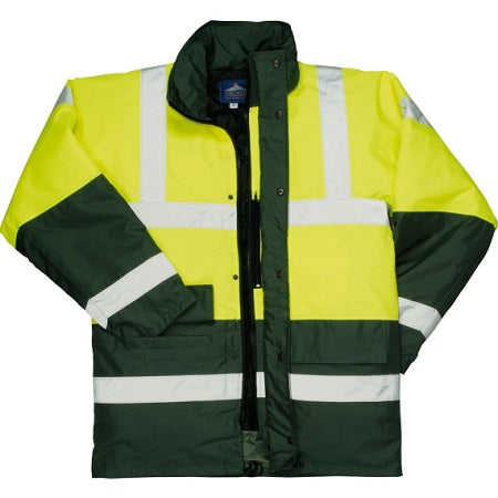 S466  Contrast Hi Vis Traffic Jacket