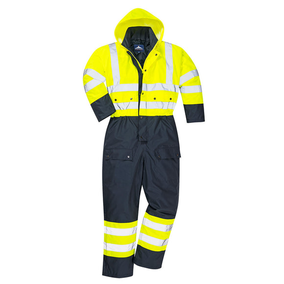 Hi-Vis Contrast Coverall - Lined - S485
