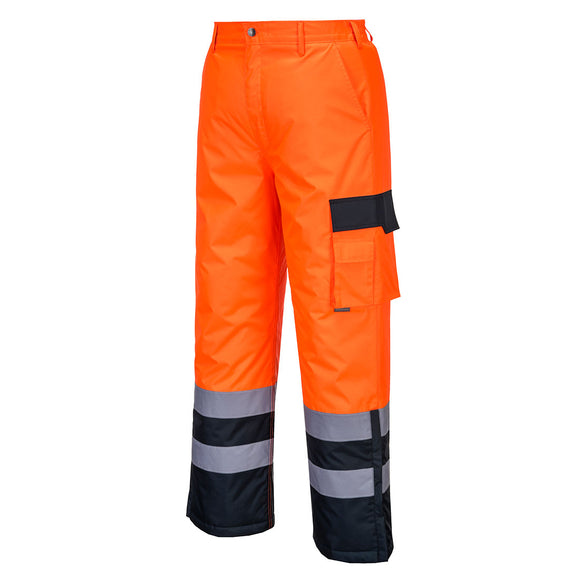 Hi-Vis Contrast Trousers - Lined - S686