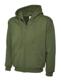 Adults Classic Full Zip Hooded Sweatshirt - UC504