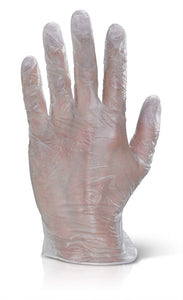 Vinyl Disposable Gloves Pre-Powdered Clear Medium