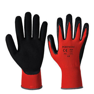 PU PALM GLOVE CUT 1 RED COLOUR CODE A641