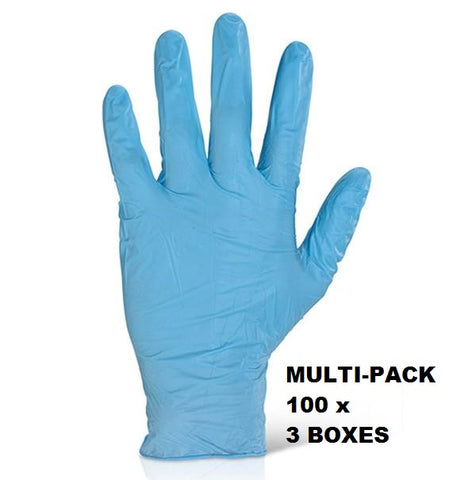 NITRILE DISPOSABLE GLOVE BX 100  MULTI PACK 3PK - NDGPF3