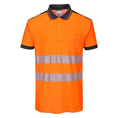PW3 High Vis Short Sleeve Polo Shirt - T180