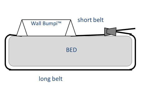 "Navy Blue Classic 54"" Wall Bumpi Bed Rail"