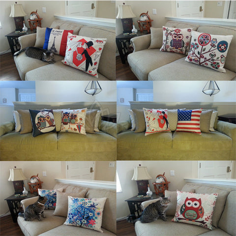 "Stylish 18"" x 18"" Decorative Accented Throw Pillow Case Covers Home Sofa"