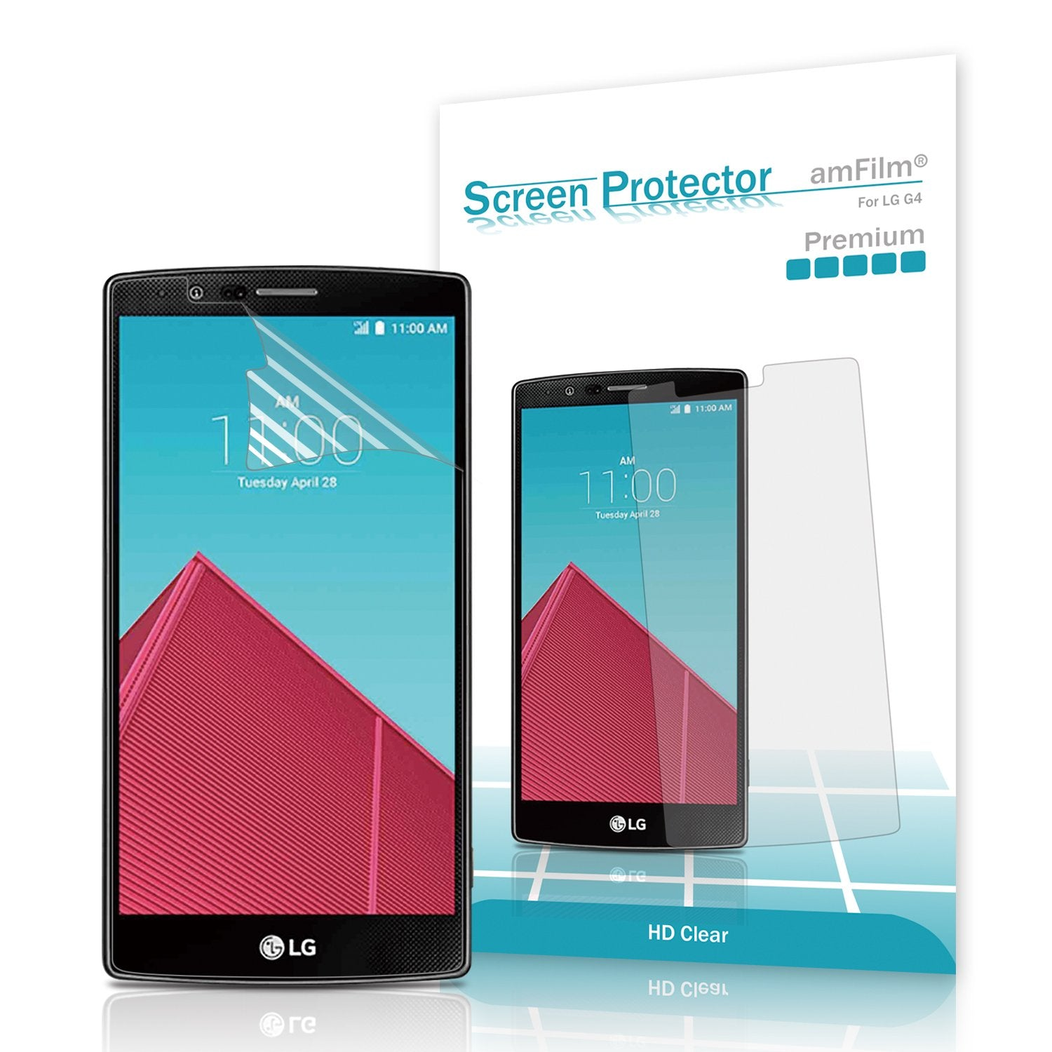 Premium HD Clear  Screen Protector for LG G4 (3-Pack)