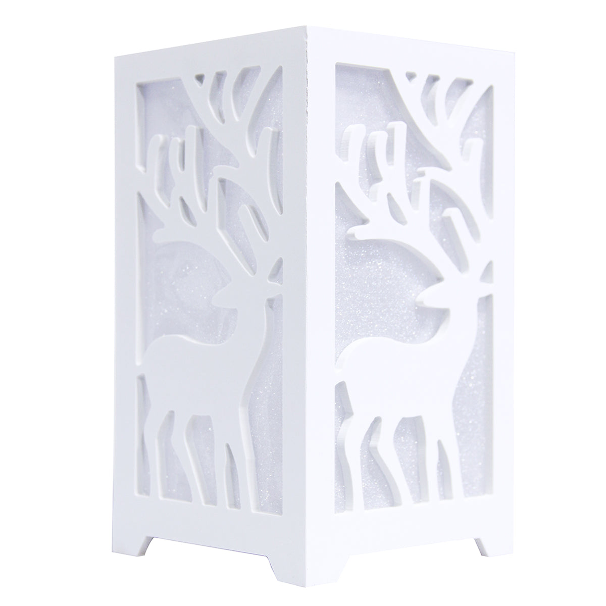 LED Nursery Kid Night Light Deer Star Cutout Novelty for Table Bedside Baby Room