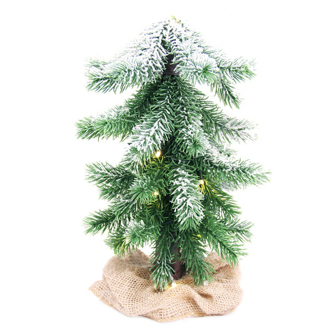 Light Up Desktop Christmas Tree w/ LED Lights Battery Powered - Tall & Short Ver
