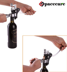 SPACECARE Wine Opener Corkscrew, Aerator with Dark Cherry Chess Box - 10 PC Kit
