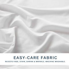 Marquess Microfiber Polyester Bed Sheet 4-Pc King Size Bedding Set (White/Gray)