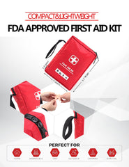 Emergency First Aid Kit Camping Hiking Home (85-PC/95-PC/150-PC Set)