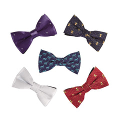 OUMUS 5-Pk Elegant Adjustable Pre-tied Bow Tie for Boys Toddler Small Child Kid