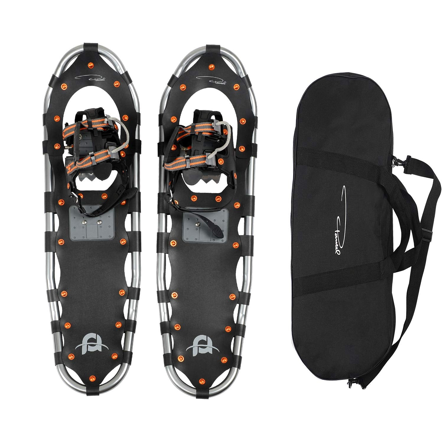"Pansel 25"" Lightweight Aluminum Snowshoes for Men, Women, Youth + Tote"