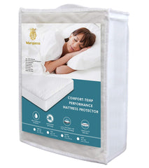 Comfort Temp Mattress Protector Waterproof Hypoallergenic (White, King Size)