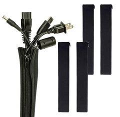"Cable Management Sleeve for TV Computer Home Entertainment 19-20"" (4PC)"