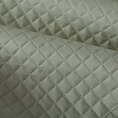 Hypoallergenic Lightweight Luxury Checkered Quilt Cover (Sage, Queen)