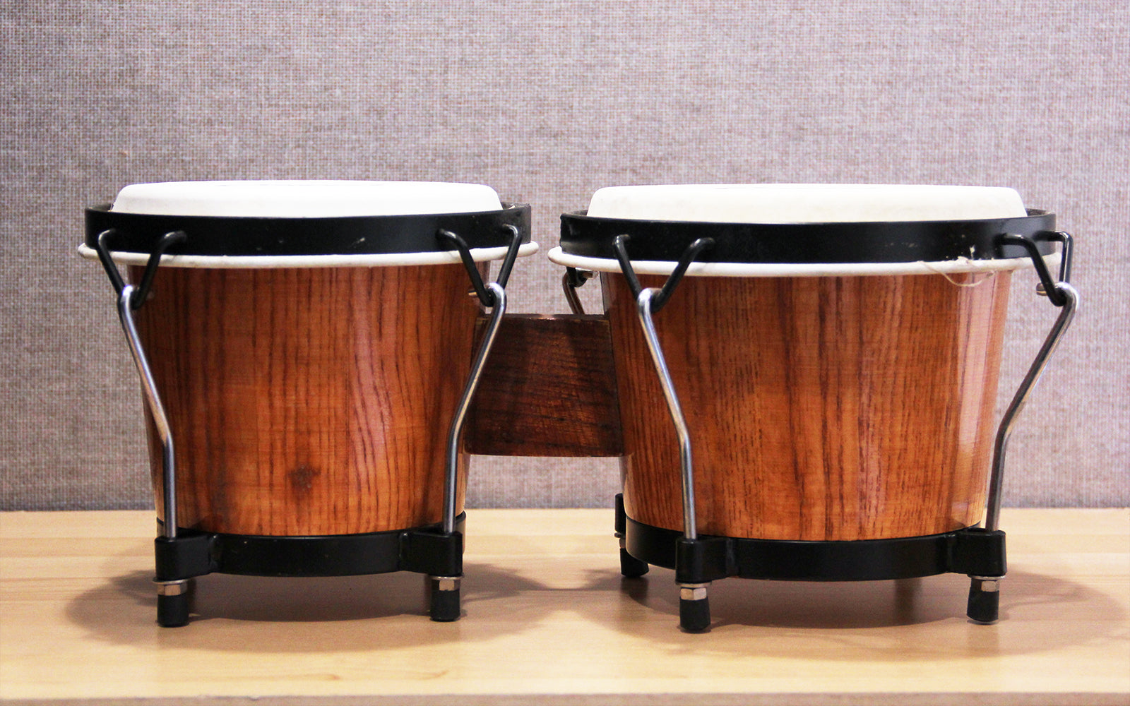 "Pro Bongo Percussion 7"" & 8"" Drums for Beginners with Turnable Wrench"