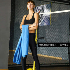 JUNELILY Anti-Bacterial Microfiber Towel for Sport, Travel, Training