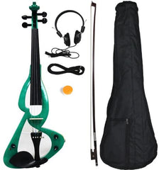 Electric/Silent Violin Full Size 4/4 Starter Kit (Multi-Color)