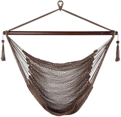 JUNELILY Super Soft Rope Hammock Swing Chair for Garden Patios Bedroom
