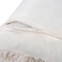 Luxury Soft Faux Fur Fleece Cushion Cover Pillowcase Decorative Pillow - 2 Pack, Beige