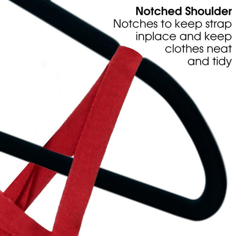 Multi-Pack Non Slip Velvet Hangers Heavy Duty Clothes Hangers - Black