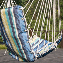 JUNELILY Colored Stripes Hammock Leisure Chair for Indoors & Outdoors