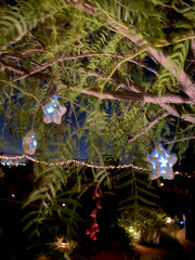 Outdoor Solar Garden Tree Auto Night Star String Light Porcelain 10-Stars