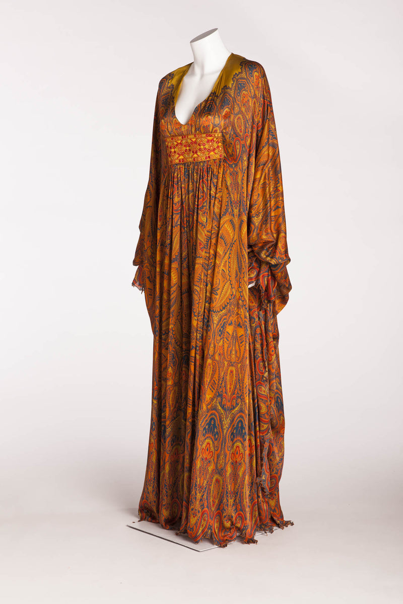Original Alexander Mcqueen - Multicolor Caftan Dress - IT 40