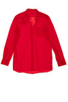"Balmain - Red Button Down Blouse ""B"" - FR 40"