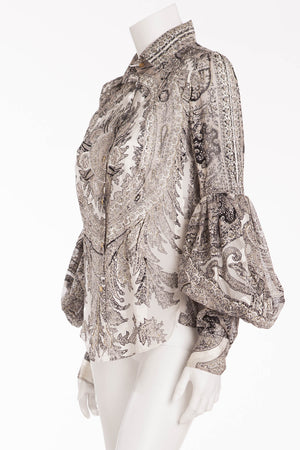 Roberto Cavalli - Black and White Long Sleeve Blouse - IT 42