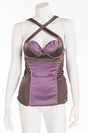 Proenza Schouler - Editorial Featured on the 2005 Runway Collection, Look 30 - Lavender Bustier Top - 8