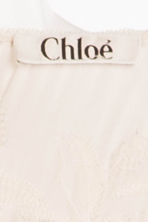 Chloe - Off White Beaded 3/4 Sleeve Top - FR 38