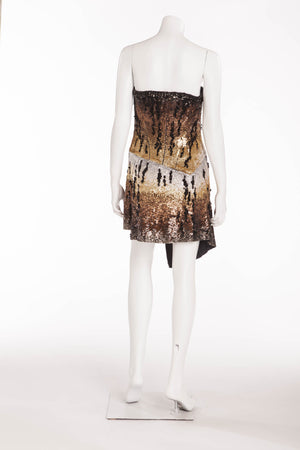 Roberto Cavalli - New with Tags Tiger Print Sequin Mini Dress - IT 42