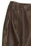 John Galliano for Christian Dior - Dark Brown Leather Pencil Skirt - FR 38