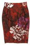 Blumarine - New With Tags Red, Purple and White Floral Pencil Skirt - IT 42