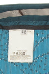 Ungaro - Teal Beaded Asymmetrical Skirt - FR 38