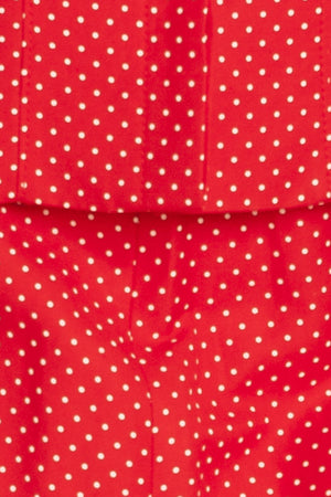 Valentino - 2PC Red Polka Dot Skirt and Blazer - IT 42