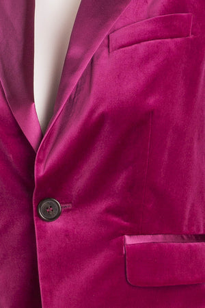 Dsquared2 - Editorial, Fuchsia Velvet Jacket - IT 44