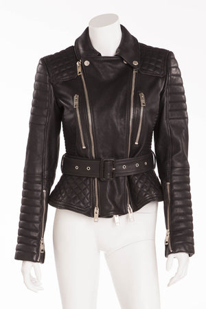 Burberry - Black Leather Quilted Jacket - IT 44