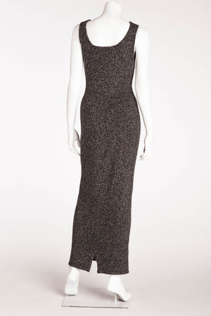 Donna Karan - Dark Gray Sleeveless Long Sweater Dress - US 6