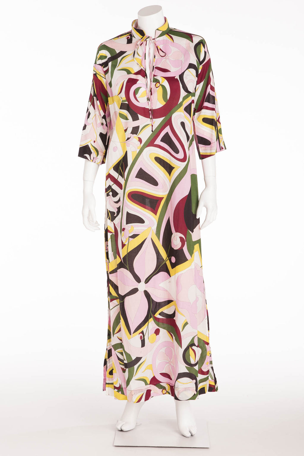 Emilio Pucci - 3/4 Sleeve Multicolor Beach Dress - IT 42