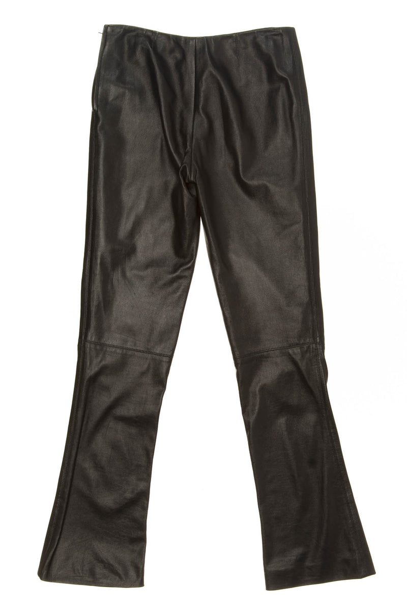 Calvin Klein - Black Leather Pants - US 6
