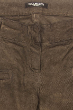 Balmain - Brown Bellbottom Pants - FR 40