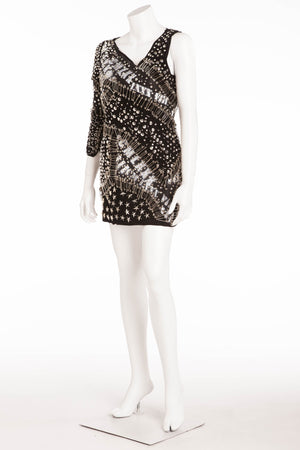 Balmain - As Seen on Kristin Stewart - Balmain Spring 2011 Safety Pin and Star Embellished Dress - FR 38
